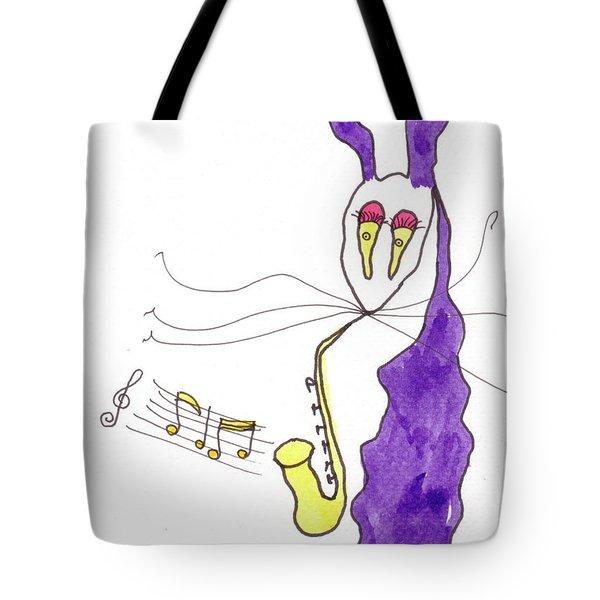Tis Sax Lady Tote Bag by Tis Art