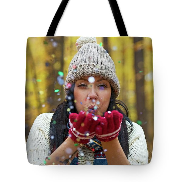 Tote Bag featuring the photograph Tis The Season.. by Nina Stavlund