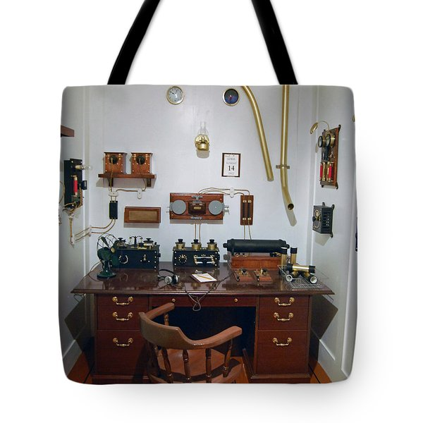 Titanic Communications Tote Bag by DigiArt Diaries by Vicky B Fuller
