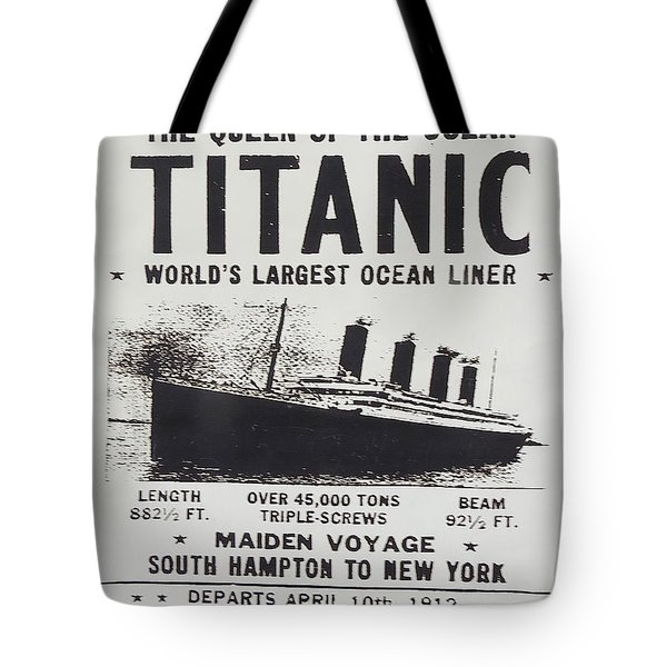 Titanic Vintage Poster Tote Bag