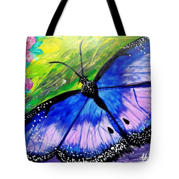 Titanium Butterfly Tote Bag