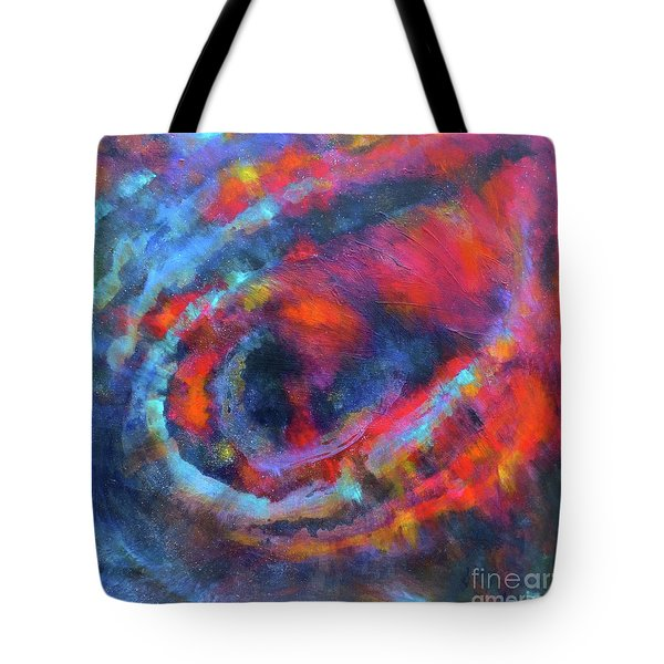 Fantasies In Space Series Painting.galactic Transitions. Acrylic Painting. Tote Bag