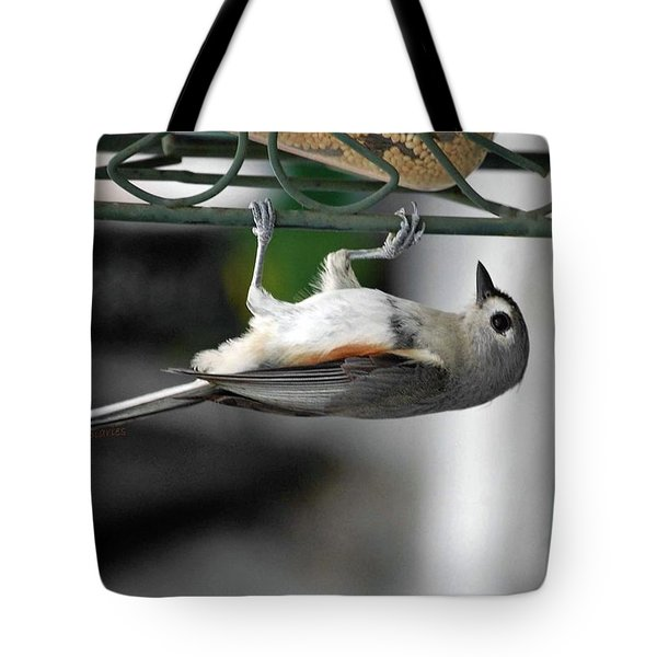 Titmouse Trickery Tote Bag by DigiArt Diaries by Vicky B Fuller