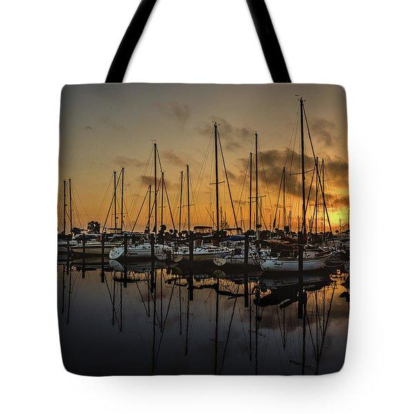 Titusville Marina Tote Bag