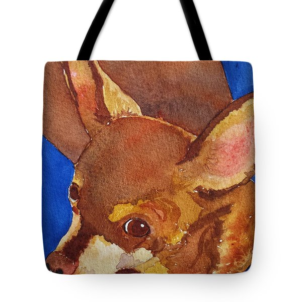 Tote Bag featuring the painting Tivo by Judy Mercer