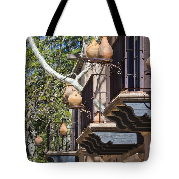 Tote Bag featuring the photograph Tlaquepaque Balconies by Chris Dutton