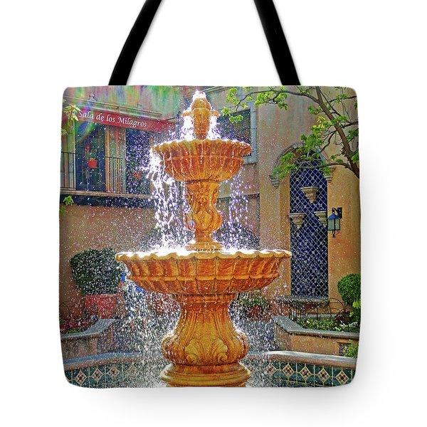 Tlaquepaque Fountain In Sunlight Tote Bag
