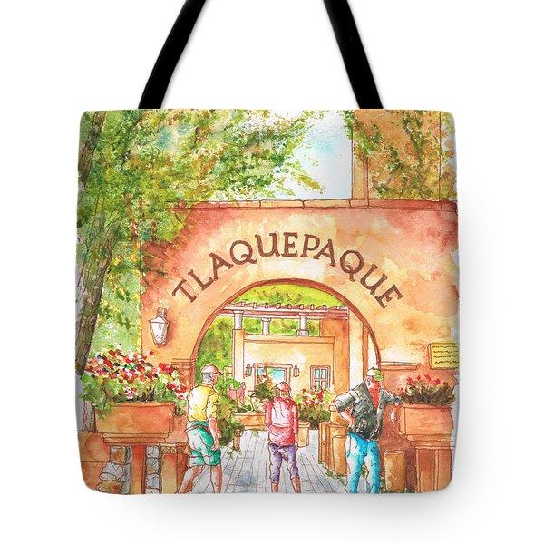 Tlaquepaque Gallery In Sedona, Arizona Tote Bag