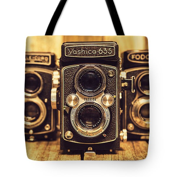 Tote Bag featuring the photograph Tlr Group by Keith Hawley