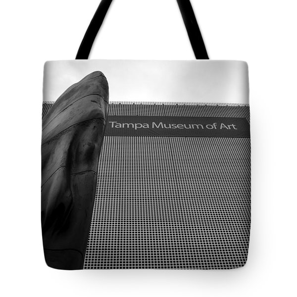 Tote Bag featuring the photograph Tampa Museum Of Art Work A by David Lee Thompson