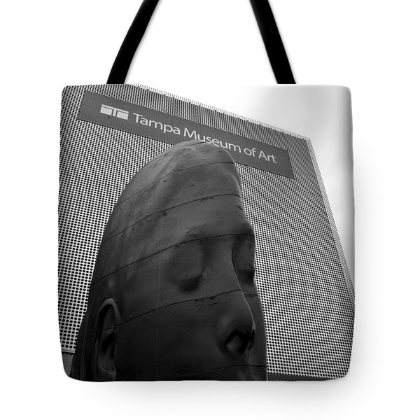 Tote Bag featuring the photograph Tampa Museum Of Art Work B by David Lee Thompson