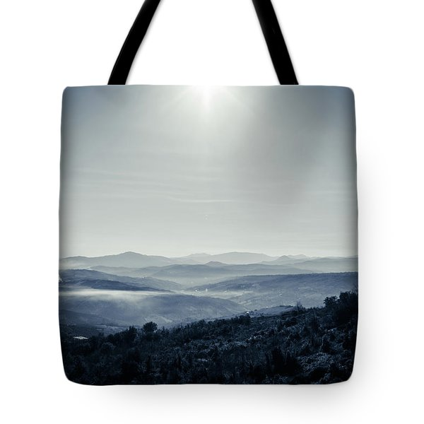 To A Peaceful Valley Tote Bag by Andrea Mazzocchetti