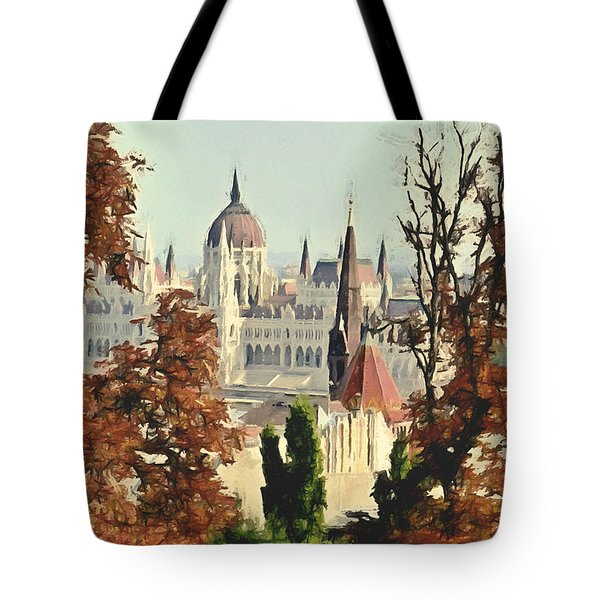 To Budapest With Love Tote Bag