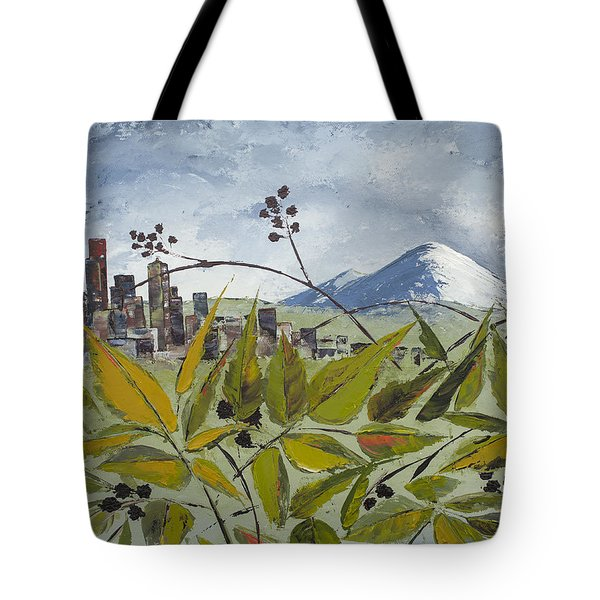 To Get To The City You Must Go Thru The Blackberries Tote Bag by Carolyn Doe
