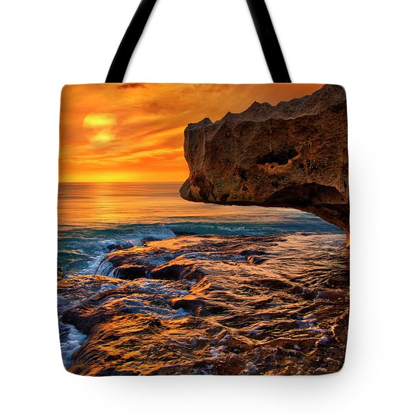 To God Be The Glory - Sunrise Over Ocean Reef Park On Singer Island Florida Tote Bag
