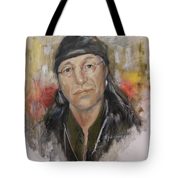 To Honor John Trudell Tote Bag by Synnove Pettersen
