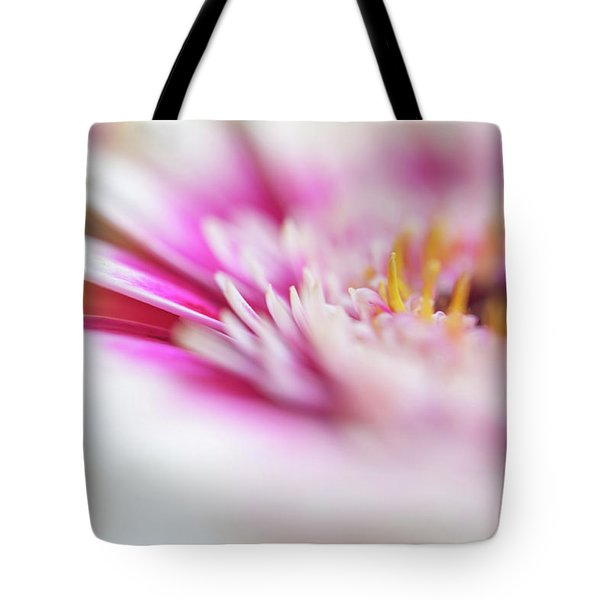 Tote Bag featuring the photograph To Live In Dream 1. Macro Gerbera by Jenny Rainbow