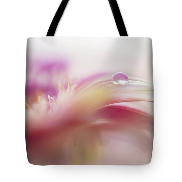 Tote Bag featuring the photograph To Live In Dream 2. Macro Gerbera by Jenny Rainbow