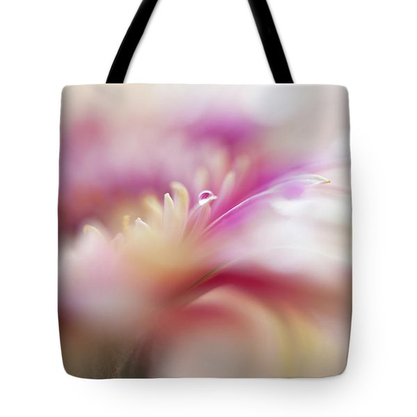 Tote Bag featuring the photograph To Live In Dream 3. Macro Gerbera by Jenny Rainbow