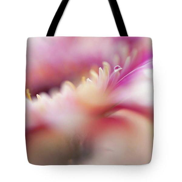Tote Bag featuring the photograph To Live In Dream 5. Macro Gerbera by Jenny Rainbow