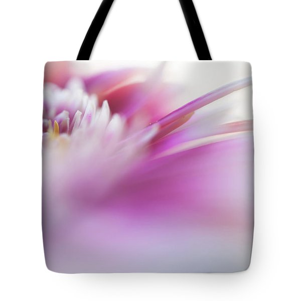 Tote Bag featuring the photograph To Live In Dream. Macro Gerbera by Jenny Rainbow