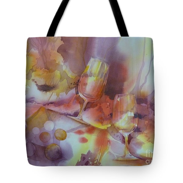 To The Bottom Of The Glass Tote Bag by Donna Acheson-Juillet