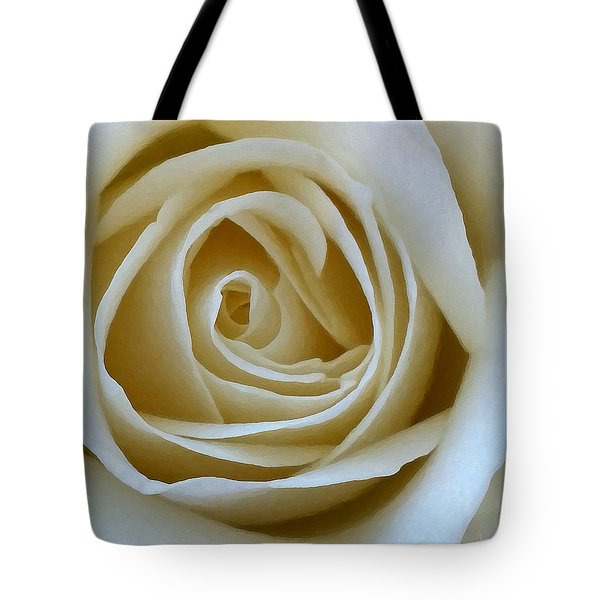 Tote Bag featuring the photograph To The Heart Of The Rose by Julian Perry