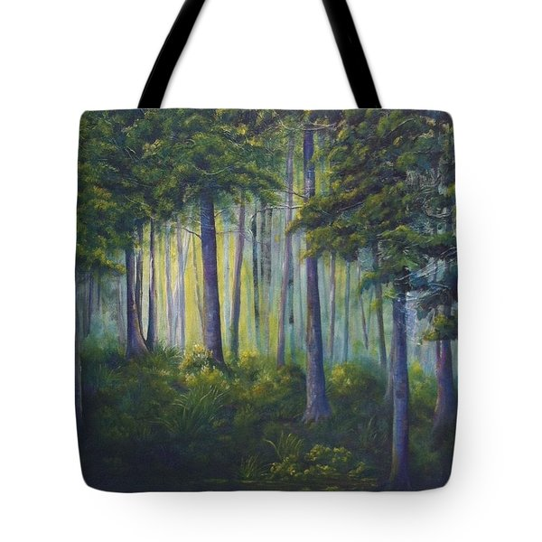 To The Light Tote Bag by T Fry-Green