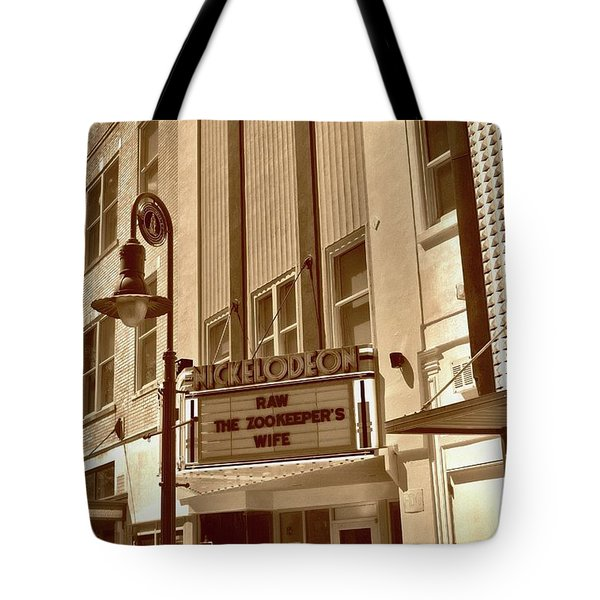 Tote Bag featuring the photograph To The Movies by Skip Willits