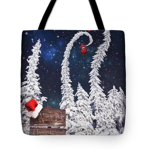 To The North Pole Tote Bag