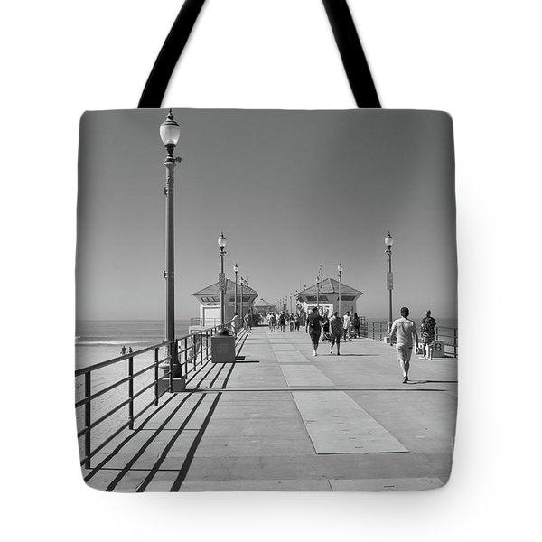 To The Sea On Huntington Beach Pier Tote Bag