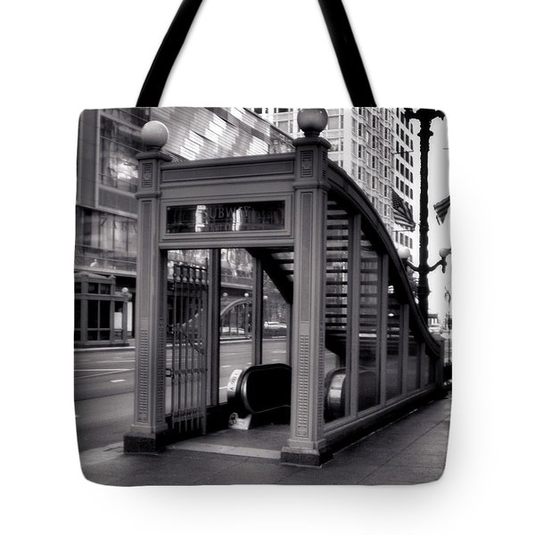 To The Subway - 2 Tote Bag by Ely Arsha