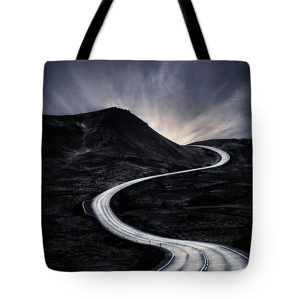 To Where The Darkness Ends Tote Bag