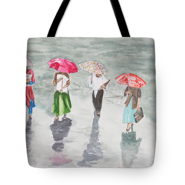 To Work In The Rain Tote Bag