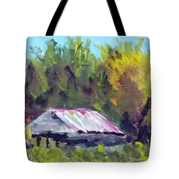 Tobacco Barn On Deppe Loop Rd Tote Bag