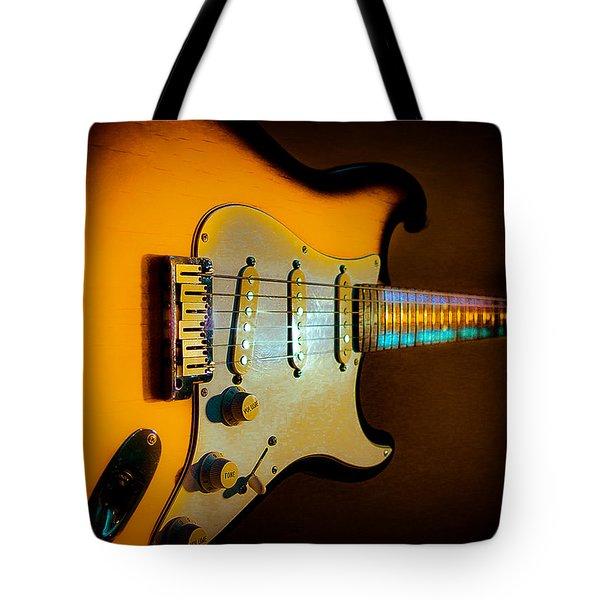 Tobacco Burst Stratocaster Glow Neck Series Tote Bag
