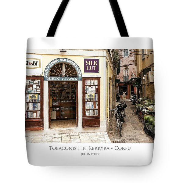 Tobaconist In Kerkyra - Corfu Tote Bag