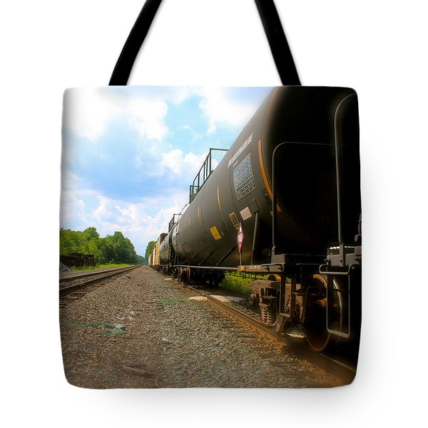 Tote Bag featuring the photograph Tobyhanna Freight Train by Iconic Images Art Gallery David Pucciarelli