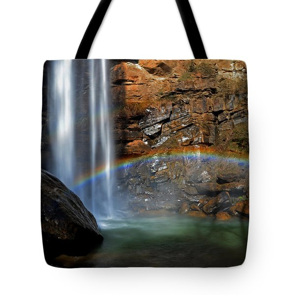 Toccoa Falls Rainbow 001 Tote Bag by George Bostian