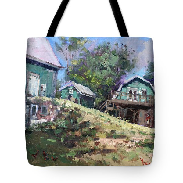 Today Morning At Carter Farms In Norval Tote Bag