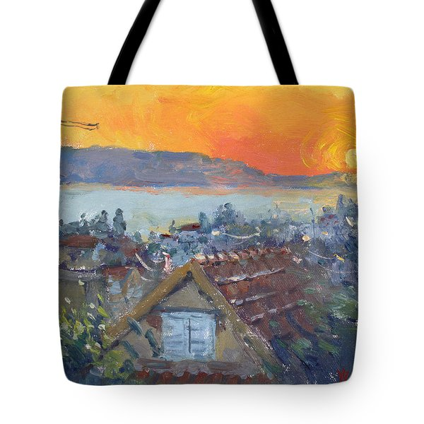 Today Sunrise Over Dilesi Greece Tote Bag