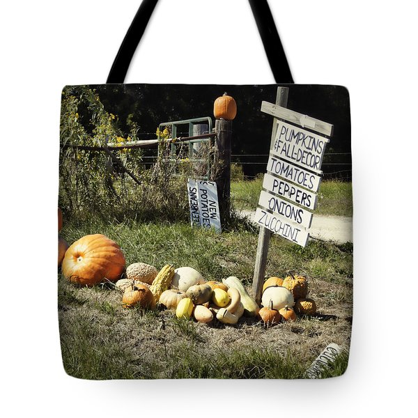 Tote Bag featuring the photograph Today's Harvest by Cricket Hackmann