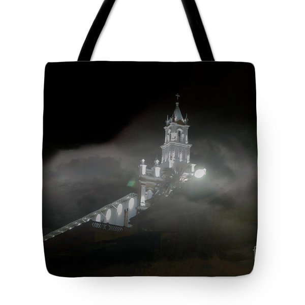 Tote Bag featuring the photograph Todos Santos In The Fog by Al Bourassa