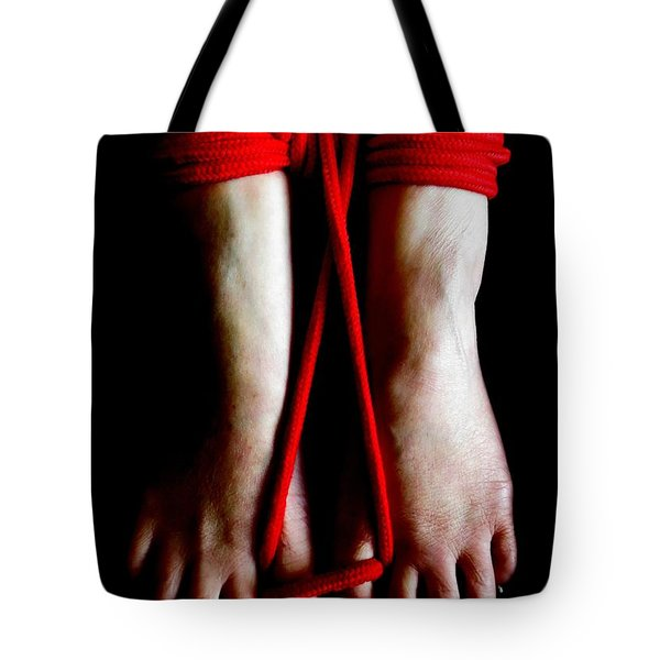Toe Tied Tote Bag