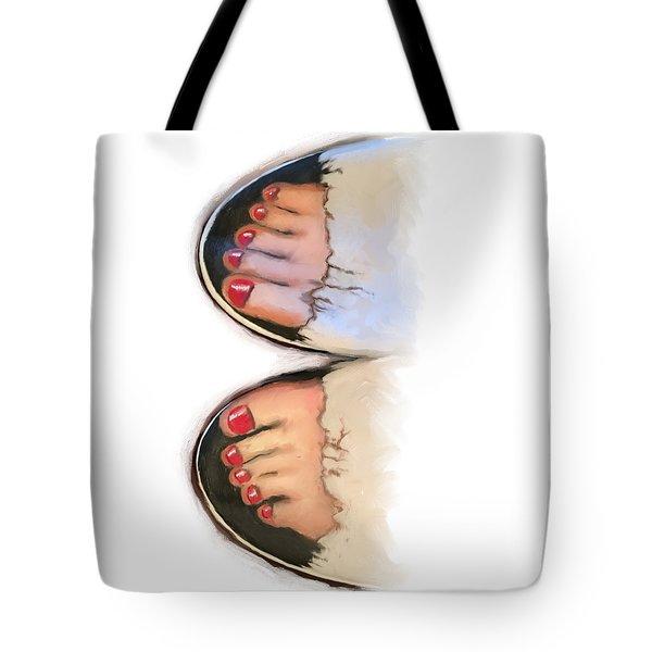 Toes 01 Tote Bag