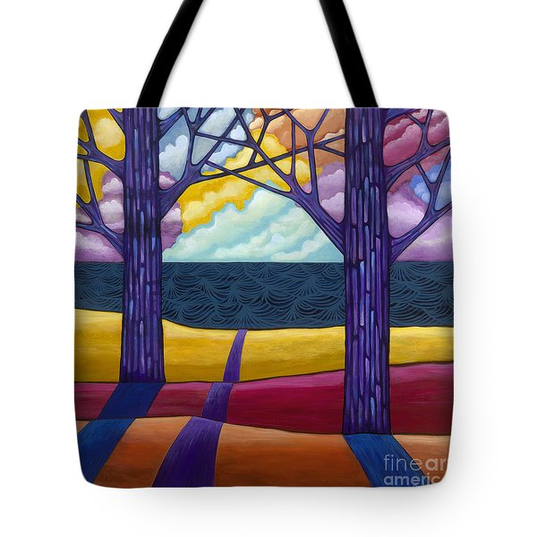 Tote Bag featuring the painting Together Forever by Carla Bank