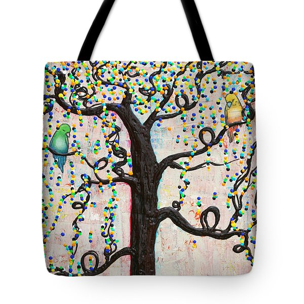 Tote Bag featuring the mixed media Together Forever by Natalie Briney