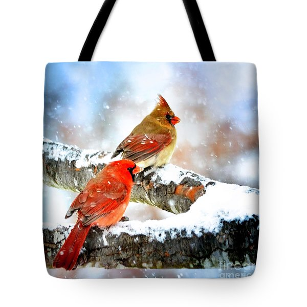 Together In The Snow Tote Bag