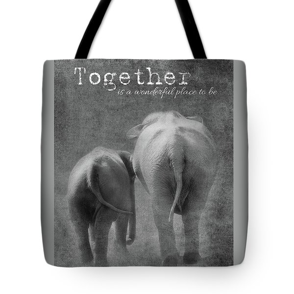 Tote Bag featuring the photograph Together by Rebecca Cozart
