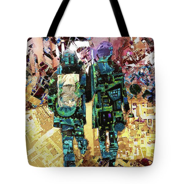 Tote Bag featuring the painting Together by Tony Rubino